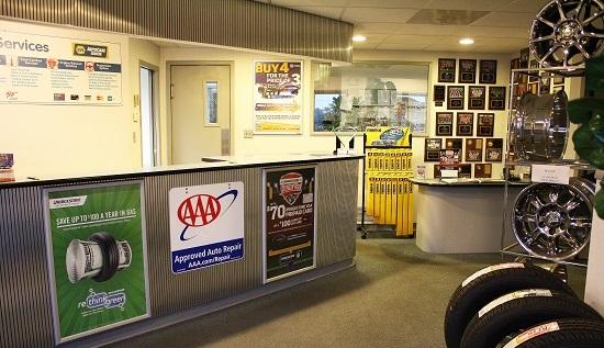 The Auto Clinic lobby